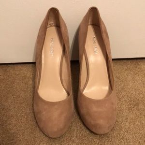 Nine West Cream Suede Pumps